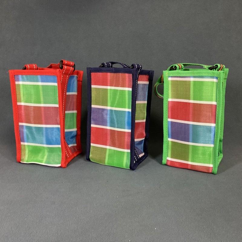 台灣製造🇹🇼 彩帆飲料袋 LV飲料袋 小購物袋 水壺袋 水壺提袋 冰霸杯提袋 台灣LV配色 好提 好放 好拿