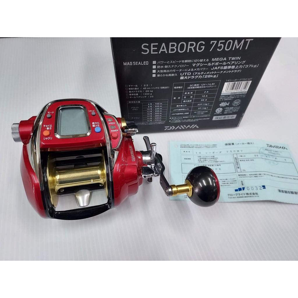 DAIWA SEABORG 750MT 日規 紅怪 雙段變速 高扭力 高煞車 船釣 鐵板 電捲 電動捲線器 可自取