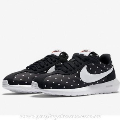 purchase cheap 81a6f a7df2 NIKE W ROSHE LD-1000 PRINT 810861-018 點點白勾女鞋