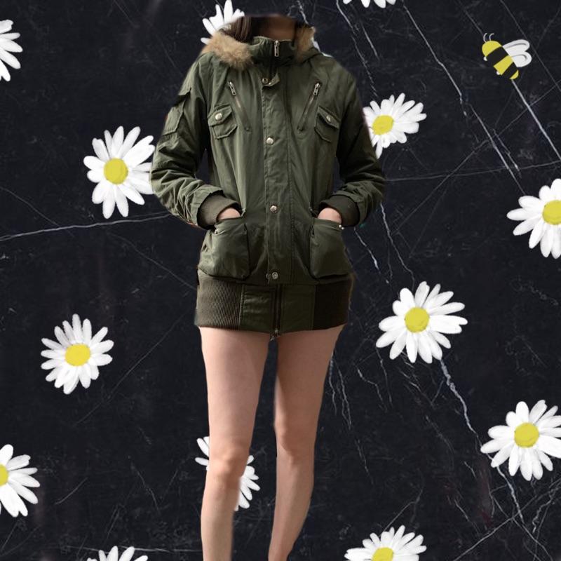 二手 韓版軍裝風衣外套