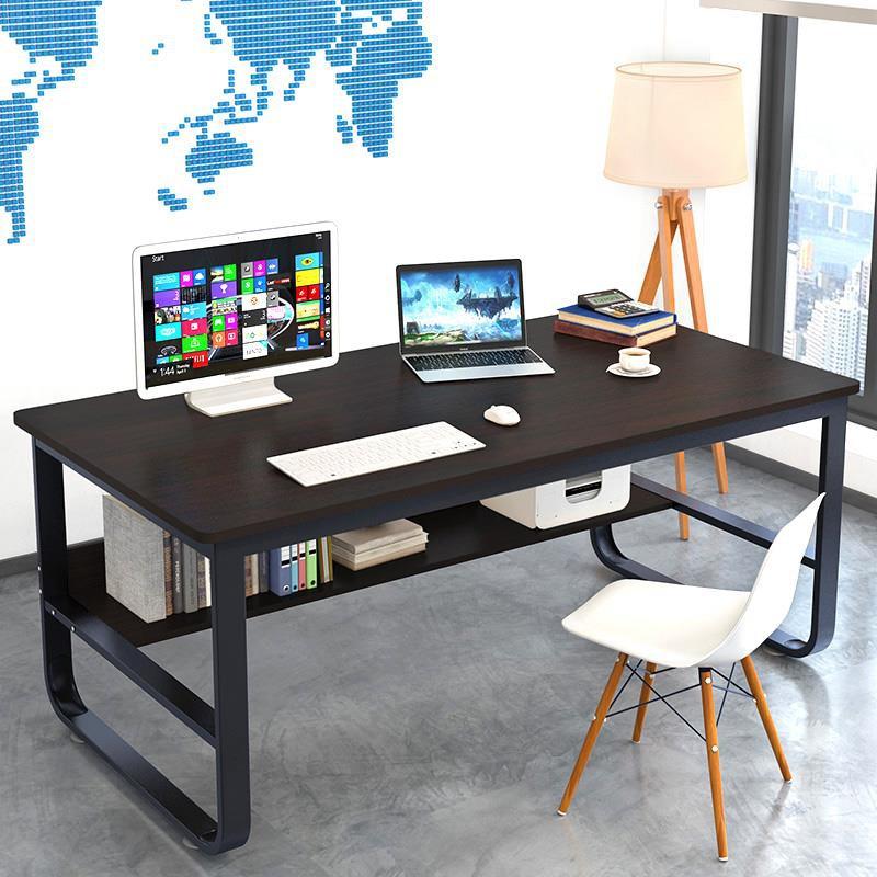 源氏物語 電腦桌鋼木書桌加長加厚80/100/120/140寬50/60/70高75cm