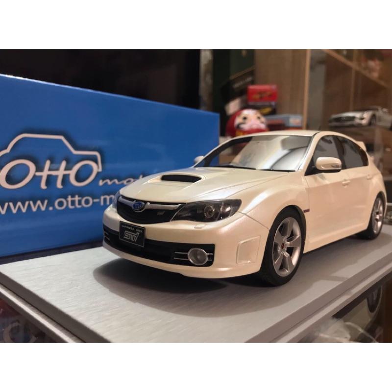 Otto 1/18 Subaru Impreza Wrx sti GRB 白 1:18