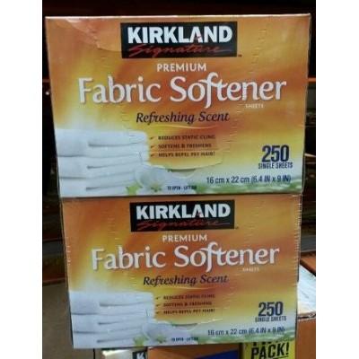**菲比小舖** COSTCO代購 KIRKLAND 烘衣機 柔軟去靜電紙 防皺紙 250張x2盒