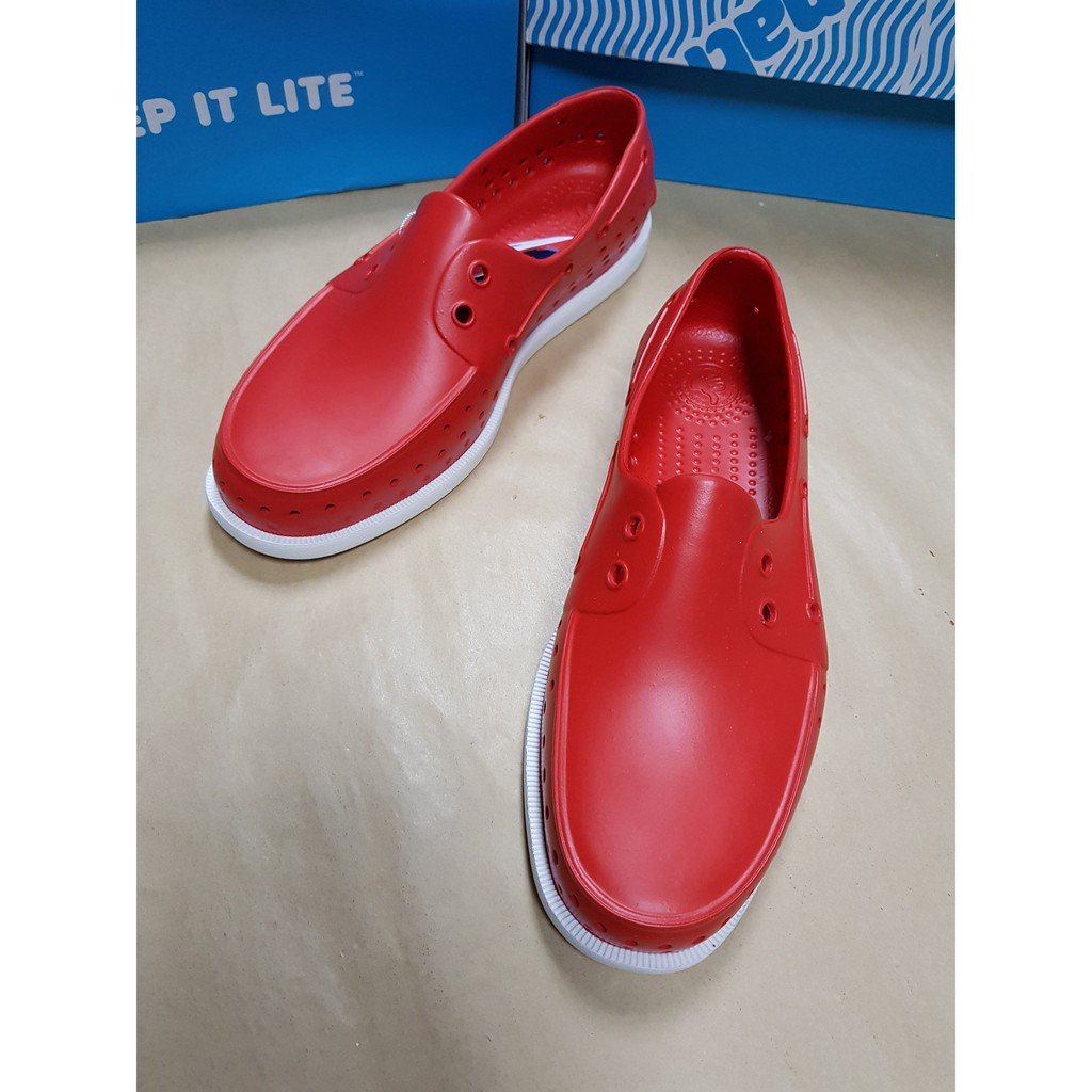 🇨🇦Native🇨🇦 Howard 帆船鞋(男)火炬紅×貝殼白👣👟