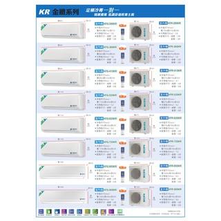 【大高屏冷氣空調家電】台灣恪力 壁掛式 定頻 單冷 5-6坪 3.6kw 《KFG-360 KR》 (空機價)