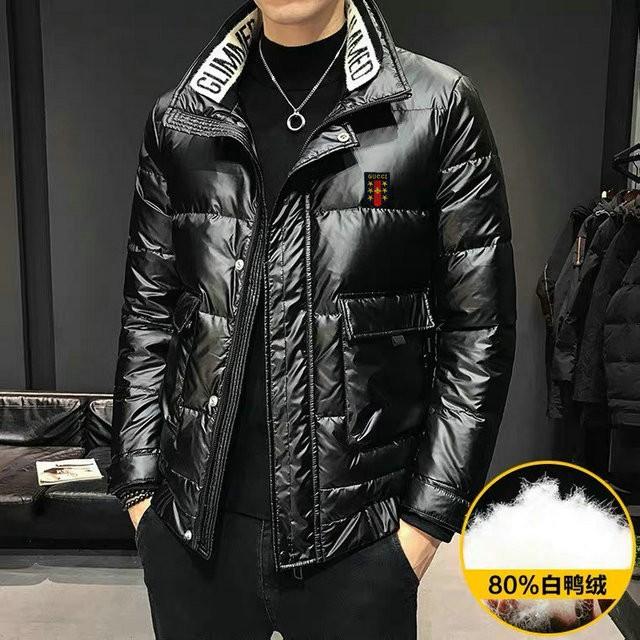 Gucci 古馳 羽絨服 冬款 外套 男外套 短款羽絨服 白鴨絨 保暖 黑色羽絨服
