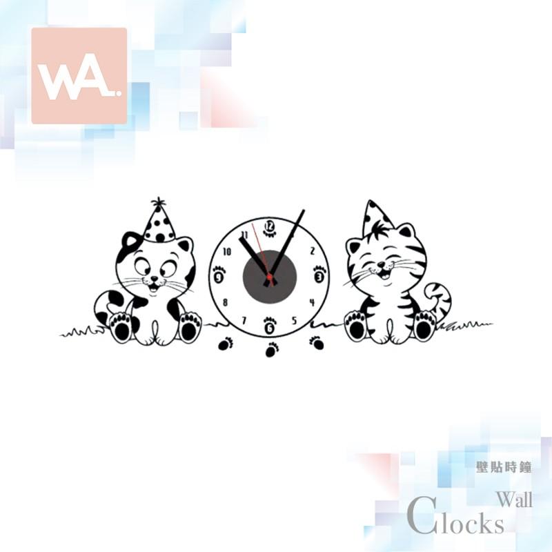 Wall Art 現貨 設計壁貼時鐘 掃描機芯 可愛貓咪 不傷牆面 可重複撕貼 展覽 創意 布置 DIY 裝潢 裝飾