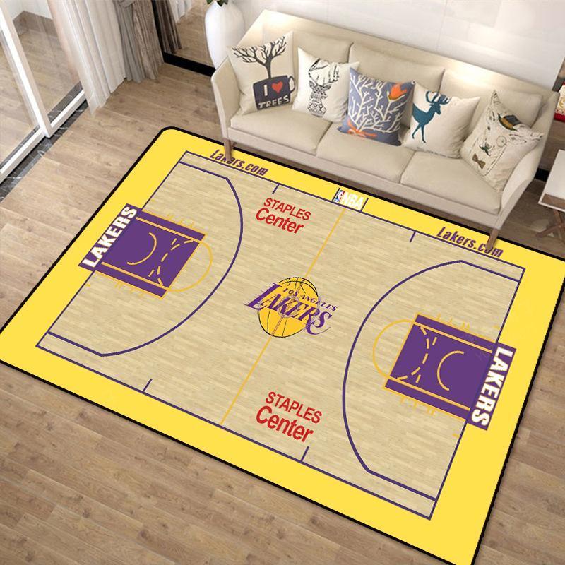 科比NBA元素紀念地毯 客廳臥室地毯NBA籃球個性創意圓形地毯臥室卡通電腦椅門墊轉椅子防滑冬天地墊