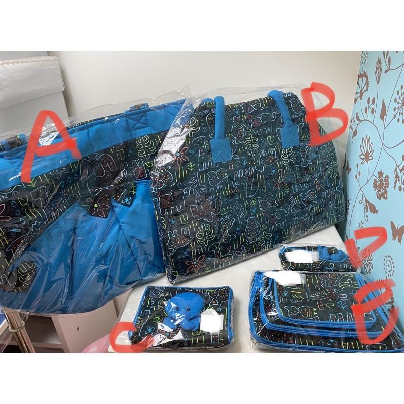 曼谷包NaRaYa側肩背包A/行李包B/藍色動物/全新