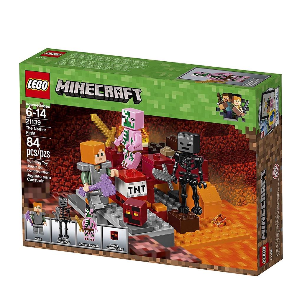 熱賣#樂高lego我的世界21139地下打鬥套裝nether fight 84片