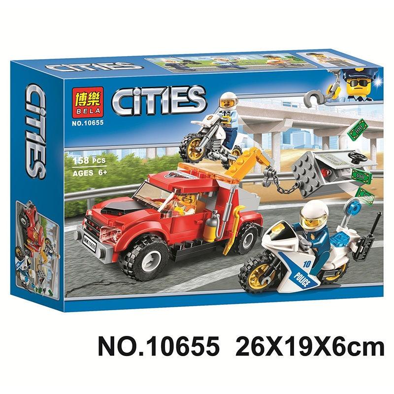 兼容樂高兒童玩具益智拼裝積木城市系列警察局消防車飛機警船禮物套裝