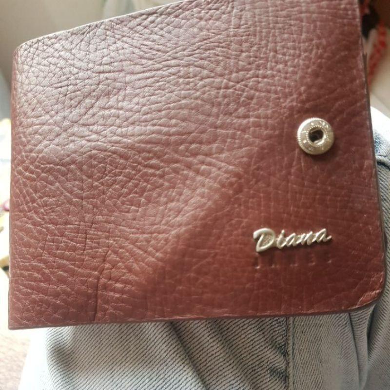 **出清**二手Diana JANES 真皮短夾