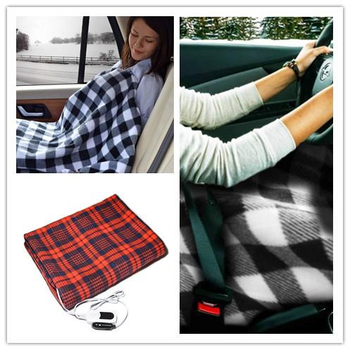 12v車用電毯 車家2用電熱毯 車床 露營必備品 車載加熱毯 12V電熱毯,車用電熱毯 加熱旅行毯