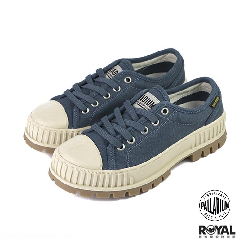 Palladium Pallashock 復古藍色 帆布 厚底5CM 休閒鞋 女款 NO.B1282【新竹皇家 】