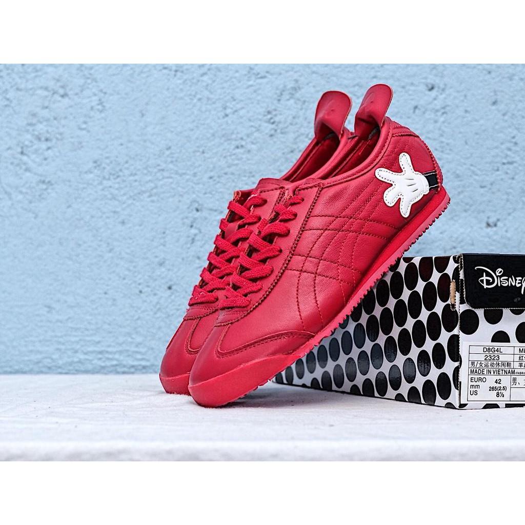 078fe6b827d4 Disney x 亞瑟士Onitsuka Tiger迪士尼米老鼠聯名運動鞋紅色跑步鞋13502 ...