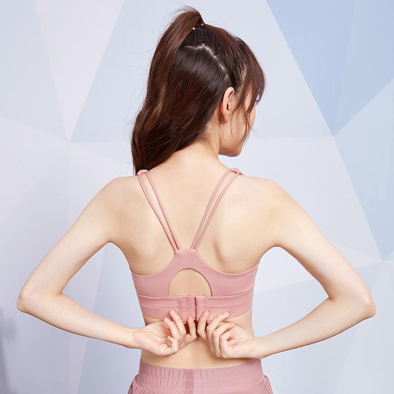 新款熱銷時尚潮流運動內衣女防震聚攏定型文胸跑步可調節防下垂背心式瑜伽健身bra