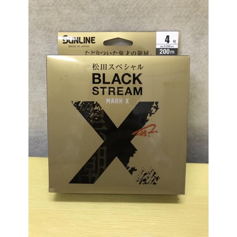《嘉嘉釣具》SUNLINE BLACK STREAM 松田鯰 尼龍線 磯釣母線 200m