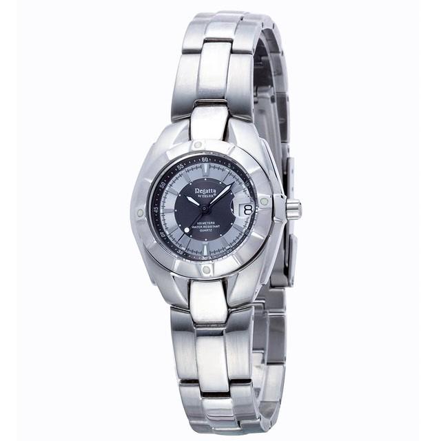 台灣品牌手錶腕錶【TELUX鐵力士】休閒運動腕錶30MM台灣製造石英錶92298W-GRAY鋼帶灰面-另有39MM款