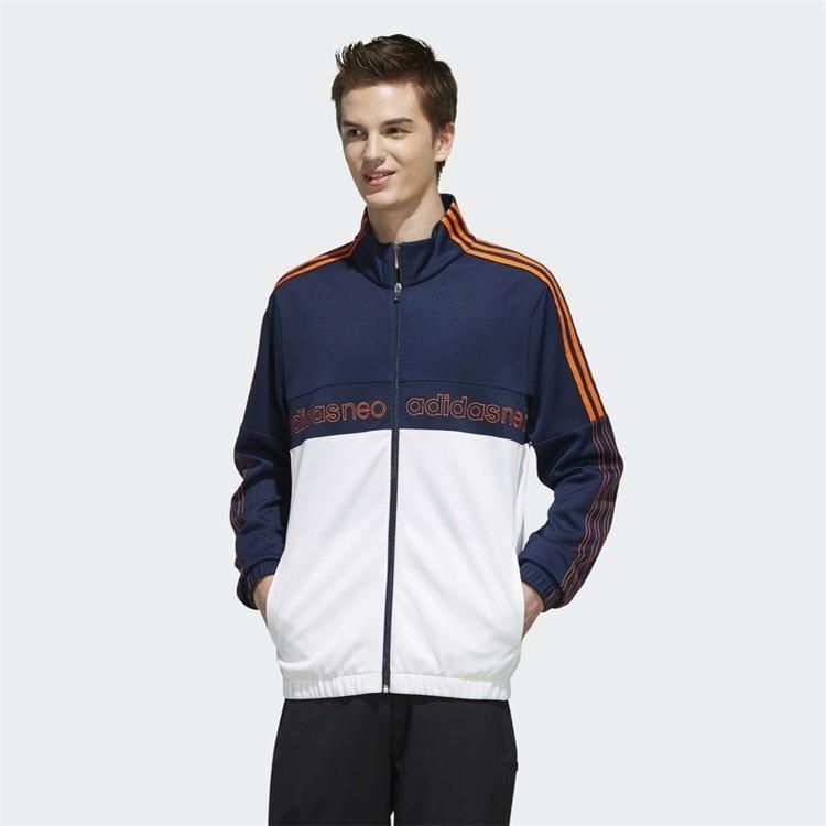 ADIDAS 愛迪達 休閒系列 拚色 經典大LOGO 運動外套 休閒外套 薄外套 針織外套 外套 EI4648 廠商直送
