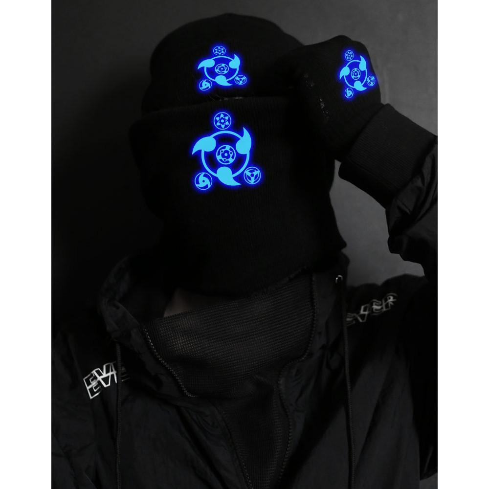 ♓熱賣♓帽子圍巾手套三件套裝冬季保暖男青少年學生加厚加絨圍脖火影周邊