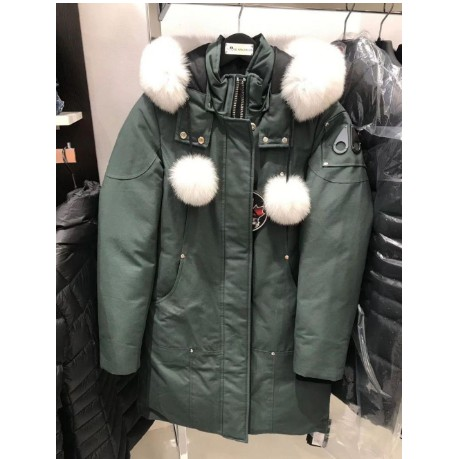 加拿大 Moose knuckles STIRILING PARKA長版羽絨外套有超可愛狐狸毛領和毛球