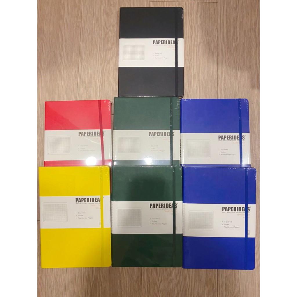 [現貨]聰明人要用方格筆記本 Paperideas 綁帶本 B5筆記本文具 子彈筆記本 日記本 方格