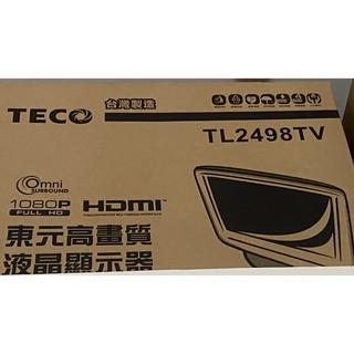 二手TECO 24吋寬螢幕 HDMI 彩色液晶顯示器 TL2498TV 可看電視 含遙控器 新北市