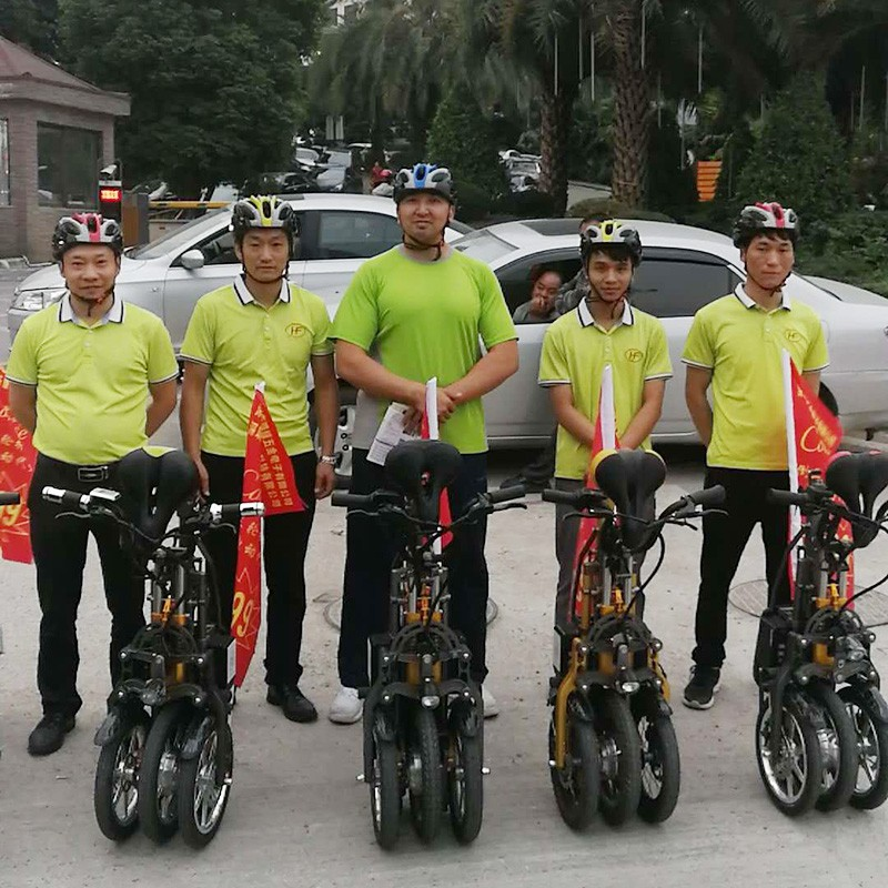 倒三輪一秒折疊 倒三輪電動車自行車鋰電池、