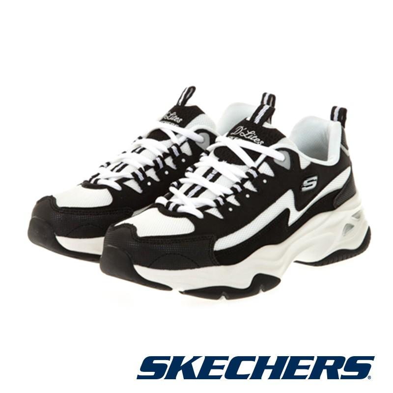 【SKECHERS】 女 休閒系列 D'LITES 4.0 閃電熊貓 - 149491BKW - 黑白