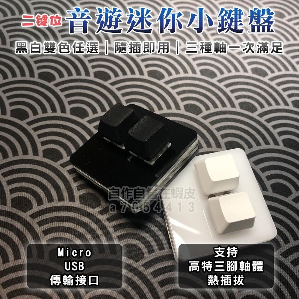 自作自售|二鍵位迷你機械鍵盤 小鍵盤 觸盤 可熱插拔 Micro接口 OSU Muse Dash 音遊