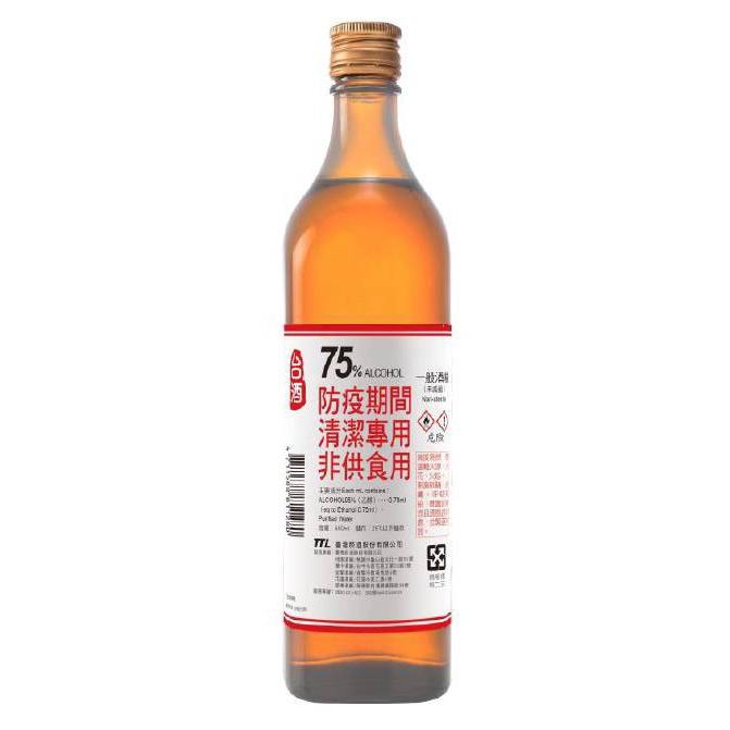 【台酒酒精】 75% 600ml 單瓶 防疫 清潔專用 非供食用 Q39