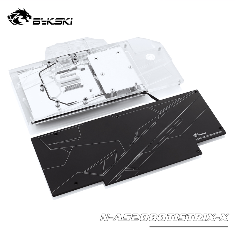 Bykski N-AS2080TISTRIX-X華碩ROG STRIX GTX 2080Ti全覆蓋GPU水冷頭