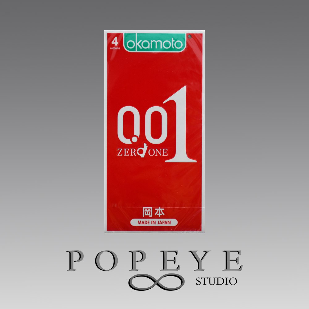 岡本 001 保險套 衛生套 至尊勁薄 4入/盒 0.01 官方授權 避孕套