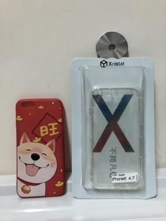 二手 iPhone 6 空壓殼 保護殼 背蓋 背殼 透明殼 卡通殼 柴犬 小6 (2個一組) 新北市