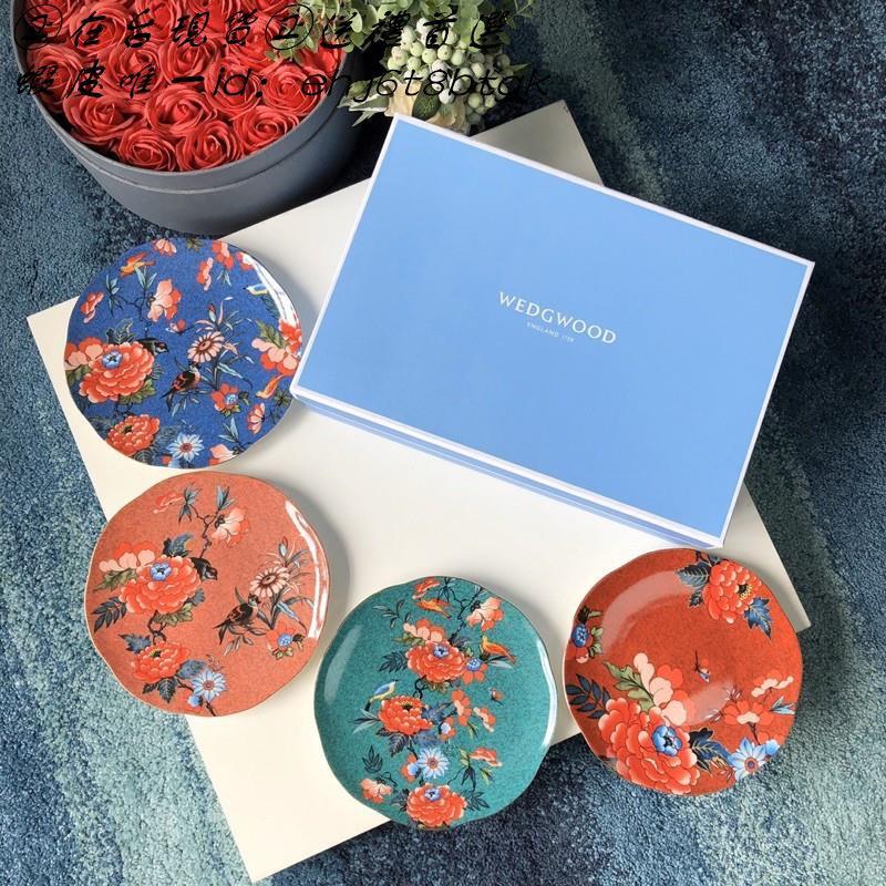 🔥禮物 禮品🔥英國🇬🇧WEDGWOOD 瑋緻活 骨瓷 牡丹系列 餐盤 四件套 禮盒套裝 禮物
