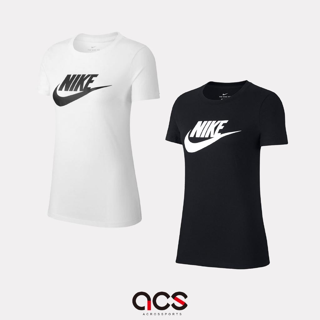 Nike 短袖T恤 NSW Essential T-Shirt 女款 短T 基本款 黑/白 任選【ACS】