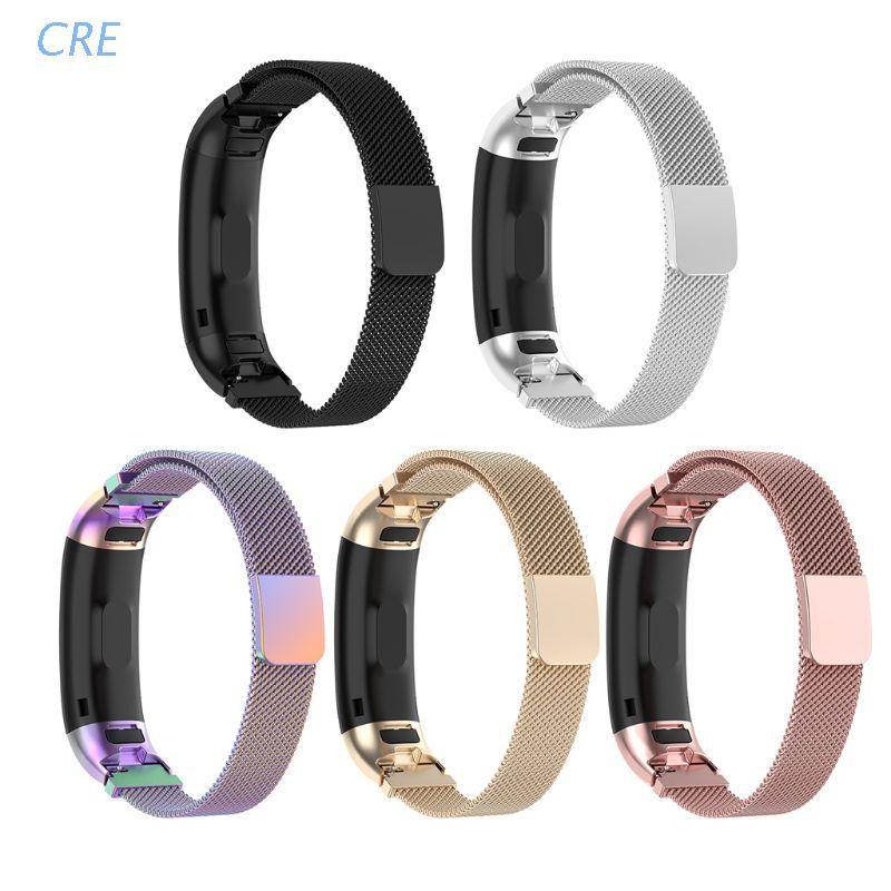 華為 適用於 Huawei Band 3 / Band3 Pro TER-B09 手鍊的 Cre 磁性不銹鋼替換錶帶
