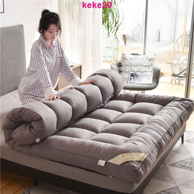 加厚10cm床墊可折疊1.5m雙人1.8米榻榻米0.9米單人學生宿舍床褥子羽絲絨日式床墊 羽絨床墊 露營 學