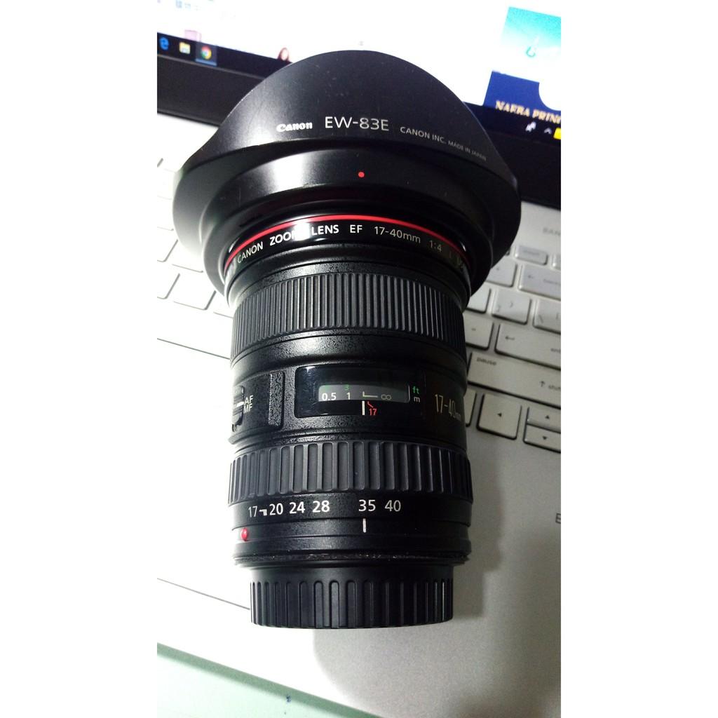 Canon 17-40mm F4 盒單全