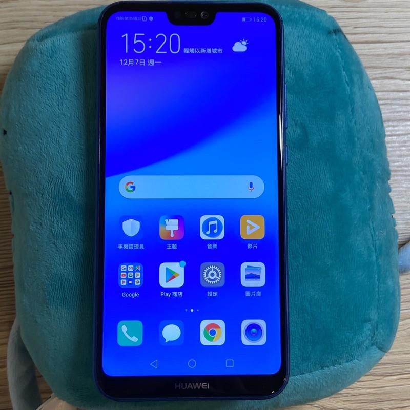 Huawei Nova 3e 64G 藍 95成新 功能正常 實機拍攝 二手 華為 nova3e 台中面交 貨到付款