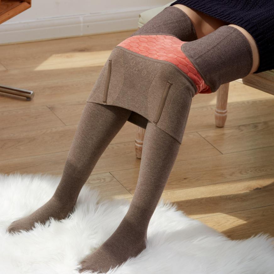 內刷毛內搭長褲 連襪加厚保暖發熱長褲女 羊絨束身褲 高腰 緊身內搭褲 收腹 提臀 打底褲 美腿襪