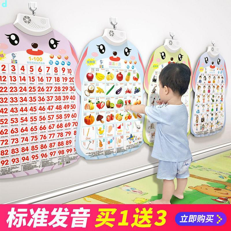 哆啦A夢-✿台灣出貨✿拼音掛圖有聲早教發聲識字字母表寶寶啟蒙兒童點讀墻貼玩具全套