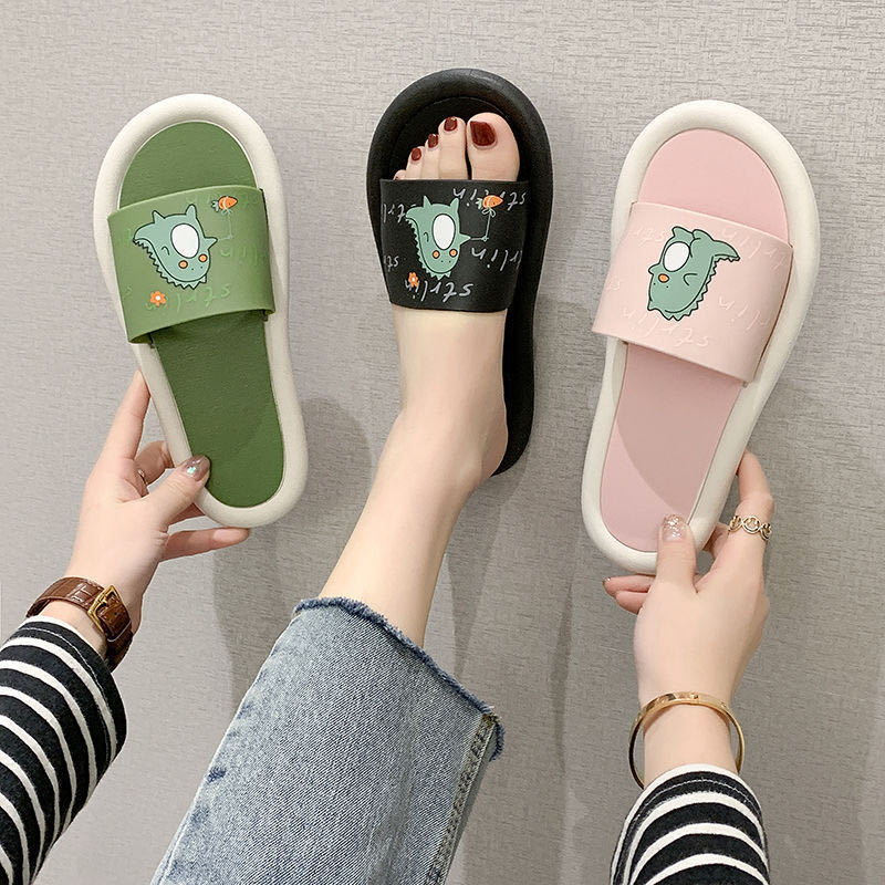 Dora涼鞋女夏新款學生外穿時尚百搭韓版拖鞋室內家居防滑洗澡一字拖鞋