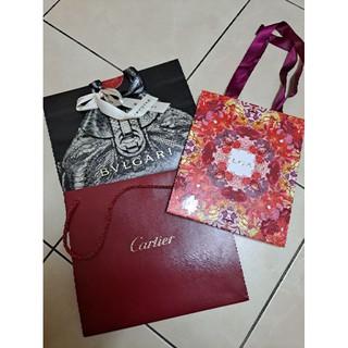 正品限量款 Bvlgari Cartier 紙袋 寶格麗 卡地亞 精品包裝 名牌紙袋 臺中市
