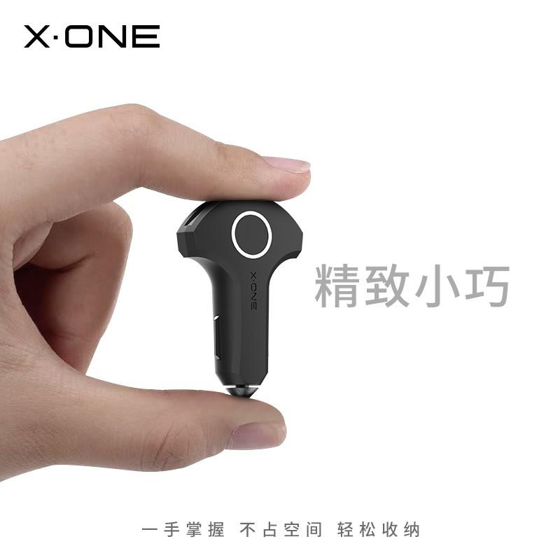 免運# XONE車充 iphone快充車載充電器 PD+QC點煙器轉換插頭