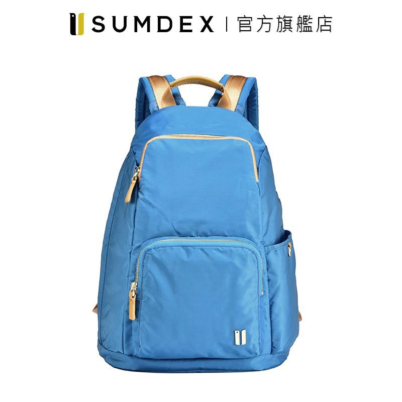 Sumdex 輕簡防盜後開後背包 NOA-764PL 藍色 官方旗艦店