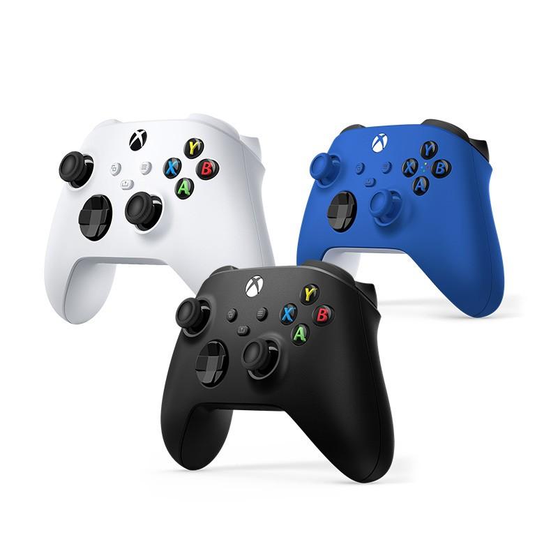 游戲配件♧❡微軟 Xbox 無線控制器 2020 冰雪白/磨砂黑/波動藍手柄 Series X/S PC游戲手柄 One