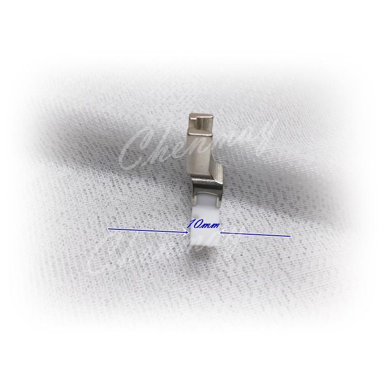 全美針車*兄弟juki勝家三菱工業用縫紉機平車鐵氟龍寬版半邊(單邊)壓布腳 適用一般布料/防水布/皮革/可車拉鍊出芽