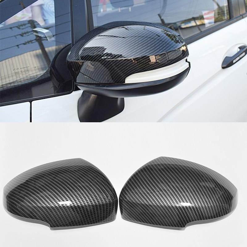 2014-2020本田FIT 碳纖維 後視鏡蓋 FIT 外飾改裝 仿卡夢 倒車鏡罩 後照鏡裝飾蓋