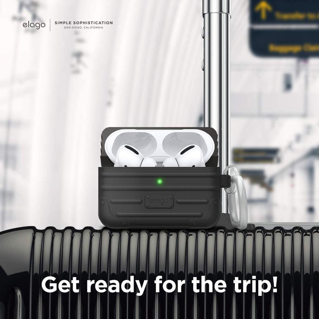 Elago Apple AirPods PRO造型扣環保護套 旅行箱款 【LifeTech】